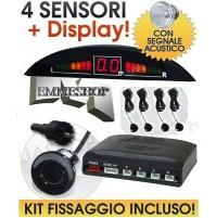 4 SENSORI PARCHEGGIO DISPLAY LED SENSORE ACUSTICO mshop