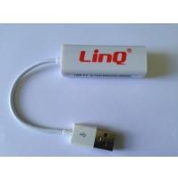 ADATTATORE ETHERNET USB 2.0 PER PC NETBOOK 10Mbps a 100Mbps LINQ LAN-U20 mshop
