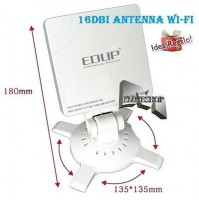 ADATTATORE WIRELESS USB WI-FI AMPLIFICATORE ANTENNA 16dBi 1800 wifi 54Mbps mshop