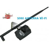 ADATTATORE WIRELESS WI-FI USB AMPLIFICATORE ANTENNA 9dBi WIFI 54Mbps mshop