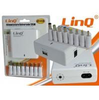 ALIMENTATORE CARICABATTERIA UNIVERSALE 125W CON USCITA USB LINQ AP-125W mshop