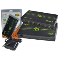 AMPLIFICATORE SPLITTER 1X4 HDMI ULTRA HD 4K 1080P 3D PS4 XBOX LINQ VK-104W mshop