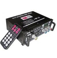 AMPLIFICATORE STEREO HI-FI TELECOMANDO PORTA USB SD RADIO FM LETTORE MP3 mshop