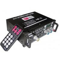 AMPLIFICATORE STEREO HI-FI TELECOMANDO RADIO FM LETTORE MP3 SD PORTA USB mshop