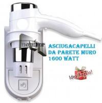 ASCIUGACAPELLI PHON ASCIUGA CAPELLI HOTEL DCG 1600W ALBERGO PARETE HTW1028 mshop