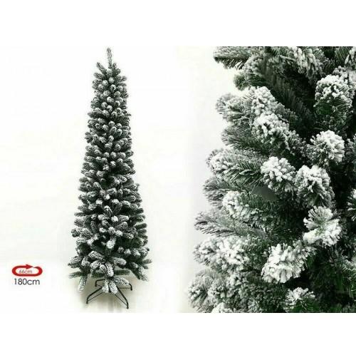 Albero di Natale Artificiale Innevato Slim Maiella Super Folto 180 210 cm mshop