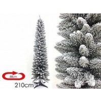 Albero di Natale artificiale innevato slim salvaspazio Monviso cm 210 2,10 mshop