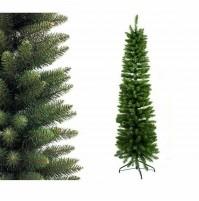 Albero di Natale artificiale slim cm 180 210 Monviso salvaspazio folto mshop