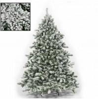 Albero di Natale innevato artificiale Tirolese cm 180 210 230 270 folto mshop
