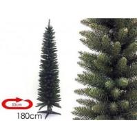 Albero di Natale salvaspazio artificiale slim mt 1,80 cm 180 Monviso folto mshop