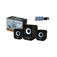 Altoparlanti Casse Speaker 2.1 Home Theatre Usb per PC Notebook LINQ Q21 mshop