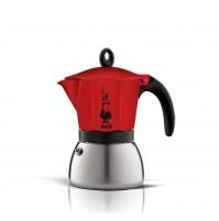BIALETTI MOKA CAFFETTIERA INDUCTION 3 TAZZE CAFFÈ INDUZIONE RED 0004922 mshop