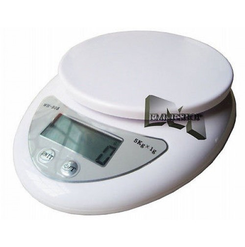 bilancia elettronica da cucina da 01 g a 5 kg wh b05 pesa alimenti display mshop