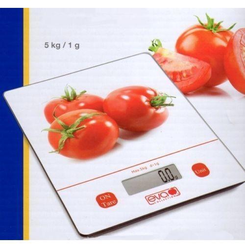 Bilancia eva elettronica da cucina 5 kg div 1 gr alta precisione pomodoro mshop - Bilancia elettronica da cucina ...