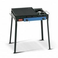 Barbecue acciaio combinato Ferraboli 92 ghisa gas gpl piastra griglia BBP mshop