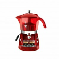 Bialetti Mokona Rossa trasparente CF40 Macchina da caffè 20 bar trivalente mshop