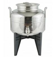 Bidone olio Sansone fusto lt 5 europa rubinetto acciaio inox 18/10 mshop