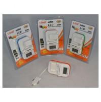 CARICABATTERIE BATTERIA UNIVERSALE CASA AUTO DISPLAY LCD USB LINQ LI-C500 mshop