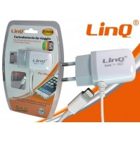 CARICABATTERIE RETE CASA USB IPHONE 5 5S 5C 6 6PLUS IPOD LINQ T-i503 mshop