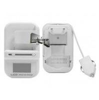 CARICABATTERIE UNIVERSALE BATTERIA 3 IN 1 DISPLAY LCD PER CASA AUTO USB mshop