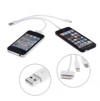 CAVO CONNETTORE USB 4 IN 1 PER IPHONE SAMSUNG GALAXY RICARICA MICRO DOCK mshop