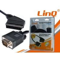 CAVO DATI DA VGA MASCHIO A SCART MASCHIO DA 1,8M 1.8 METRI LINQ A9040 mshop