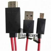 CAVO MHL ADATTATORE 1080P PER SAMSUNG GALAXY S3 I9300 MICRO USB HDMI HDTV mshop