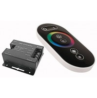 CENTRALINA STRISCE LED RGB CONTROLLER TELECOMANDO TOUCH RF RADIO 12/24 DC mshop