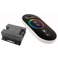 CENTRALINA STRISCE LED RGB CONTROLLER TELECOMANDO TOUCH RF RADIO 12/24 DC mshop