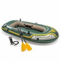 Canotto Seahawk 2 Intex 68347 gonfiabile con remi pompa mare lago gommone mshop