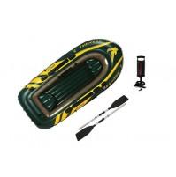 Canotto Seahawk 3 posti Intex 68380 gonfiabile remi pompa mare gommone mshop