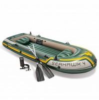 Canotto Seahawk 4 Intex 68351 gonfiabile con remi pompa mare lago gommone mshop