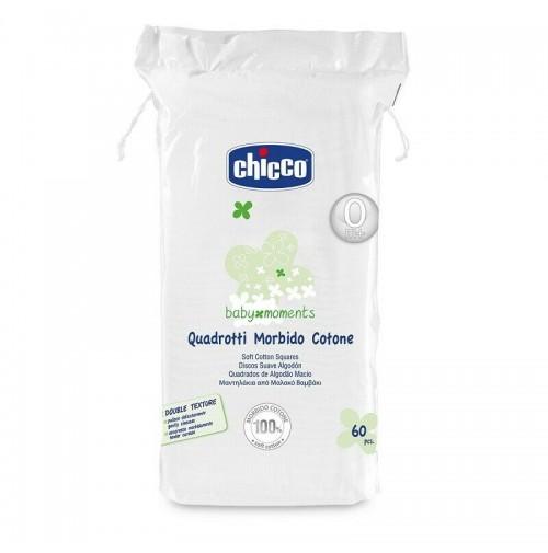 Chicco Quadrotti Morbido Cotone per Bimbo Neonato Pacco 12 Conf. da 60 pz mshop