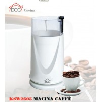 DCG MACINACAFFÈ ELETTRICO MACINA TRITA CHICCHI CAFFÈ LAMA ACCIAIO KSW 2605 msh