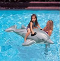 Delfino cavalcabile gonfiabile Intex 58535 giochi banbini piscina mare mshop