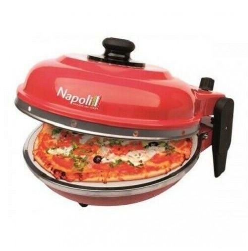 Forno pizza Express Napoli Optima rosso pietra refrattaria elettrico ITALY mshop