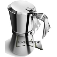 GIANNINI CAFFETTIERA ACCIAIO 6 TAZZE LA GIANNINA MACCHINA CAFFE' INDUZIONE mshop