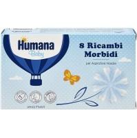 Humana Baby Ricambi Morbidi per Aspiratore Nasale 2 Conf 8pz Senza Ftalati mshop
