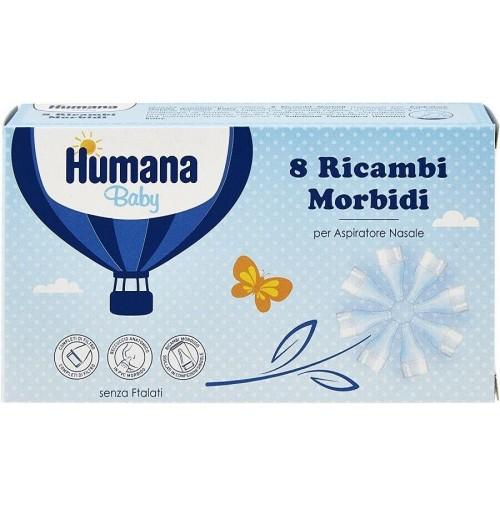 Humana Baby Ricambi Morbidi per Aspiratore Nasale 3 Conf 8pz Senza Ftalati mshop