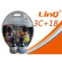 INCHIOSTRO UNIVERSALE 3 COLORI + NERO X STAMPANTI A CARTUCCE LINQ BDS3C+B mshop