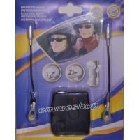 INTERFONO KIT PER MOTO SCOOTER CASCHI MP3 MICROFONO CUFFIA INTERPHONE mshop