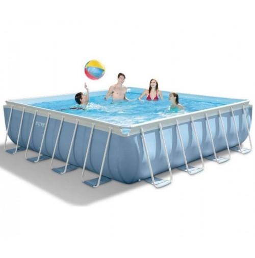Intex 28764 piscina prisma frame quadrata 427x427x107 cm - Scaletta piscina intex ...