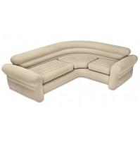 INTEX MATERASSO BED SOFA DIVANO AD ANGOLO GONFIABILE 257X203X76 CM 68575 mshop