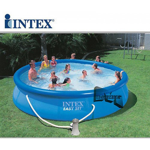 Intex piscina easy 56412 cm 457 x 91 con pompa filtro for Tappeto per piscina intex