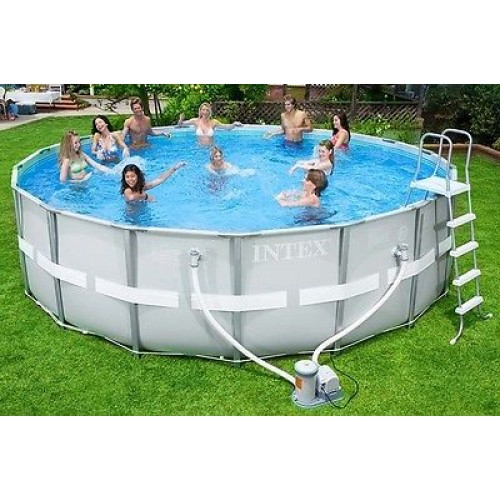 Intex piscina ultra frame tonda rotonda con pompa filtro for Intex piscine ricambi