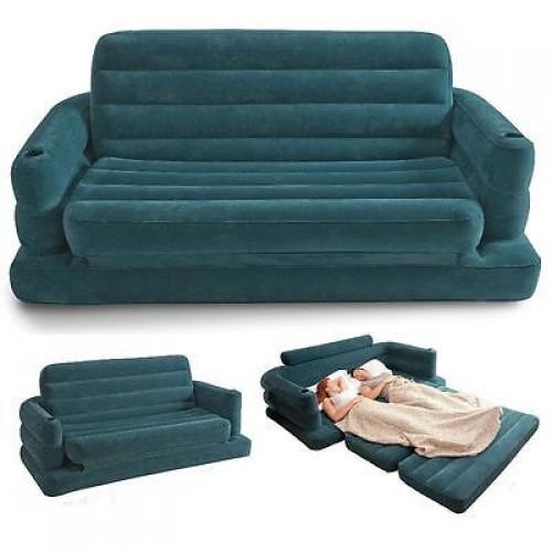 Intex sofa bed materasso gonfiabile divano letto poltrona loungin 68566 mshop emmeshop - Materasso per poltrona letto ...