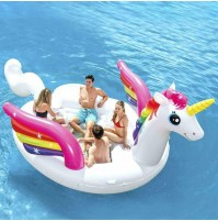 Intex 57266 Isola Party Unicorno 503X335X173 cm gonfiabile mare piscina mshop