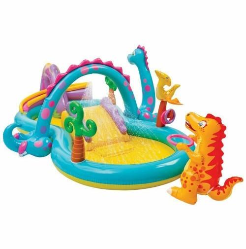 Intex piscina gioco bimbo bambino dinosauri play center spruzzi 57135 mshop