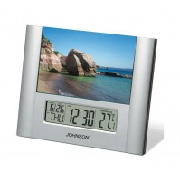 JOHNSON SVEGLIA OROLOGIO DIGITALE PORTAFOTO CALENDARIO TEMPERATURA SVD205 mshop