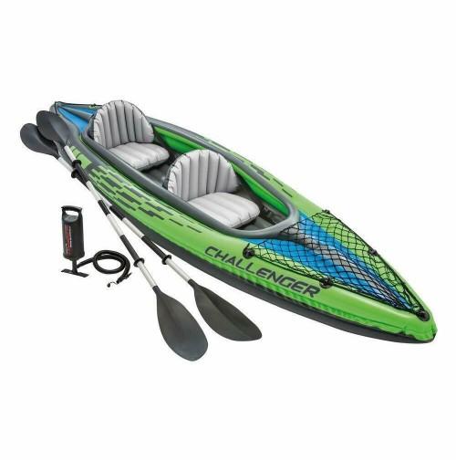 K2 Challenger Canoa Kayak Gonfiabile 2 posti con Remi e Pompa INTEX 68306 mshop